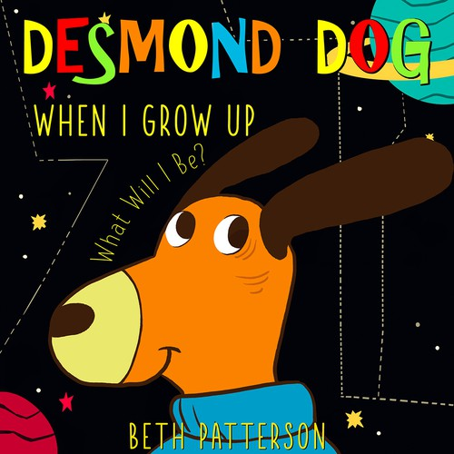 Children's book cover - Desmond dog