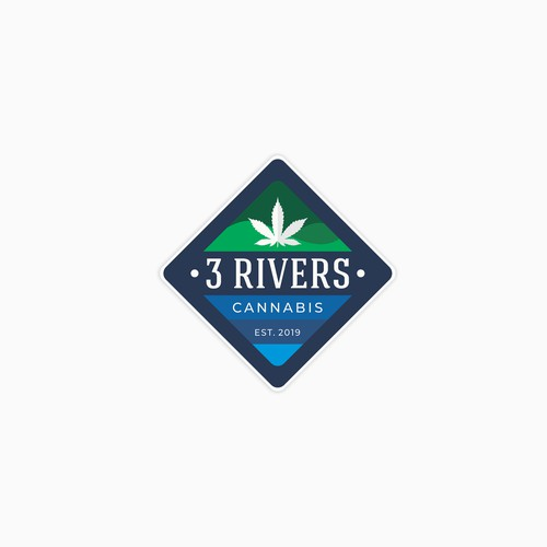 sticker concept for cannabis store