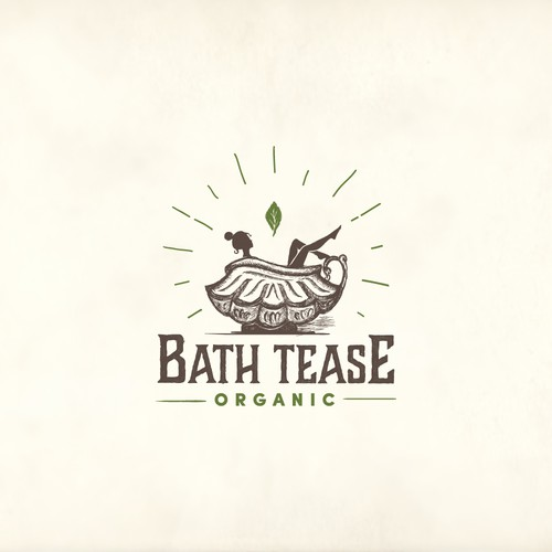 vintage concept for organic bath products