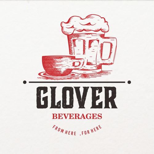 """Glover"" Coffee and Beer logo design"