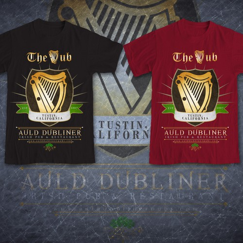 Help Auld Dubliner Irish Pubs with a new t-shirt design
