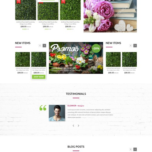 Transform template website with unique font selection, layout tweaks and header design