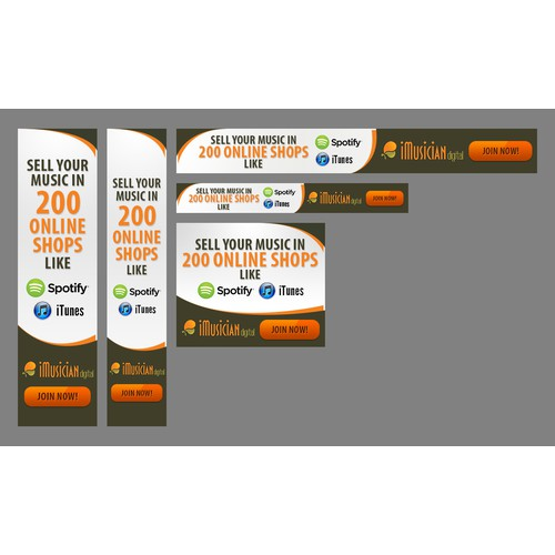 iMusician digital Banner Ad Set