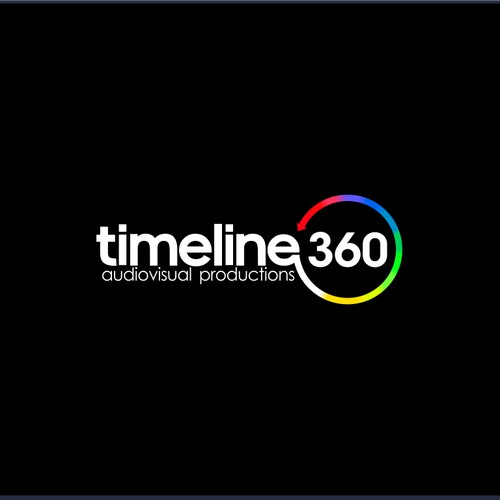 """Logo&card for """"Timeline360 - audiovisual productions"""""""