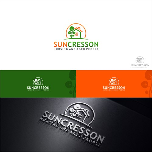 simple green concept logo for suncresson
