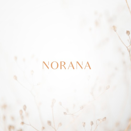 """NORANA"" logo design simple"