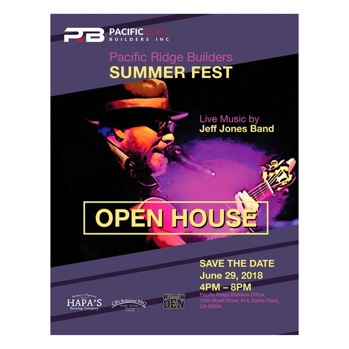 Flyer for Pacific Ridge Builders