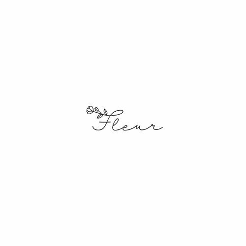 Minimalistic logo design for flower shop
