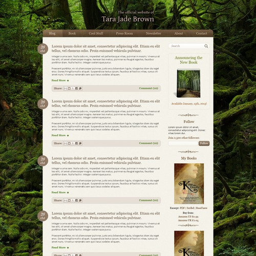 Design webpage for SF- and fantasy- book author TJBrown!