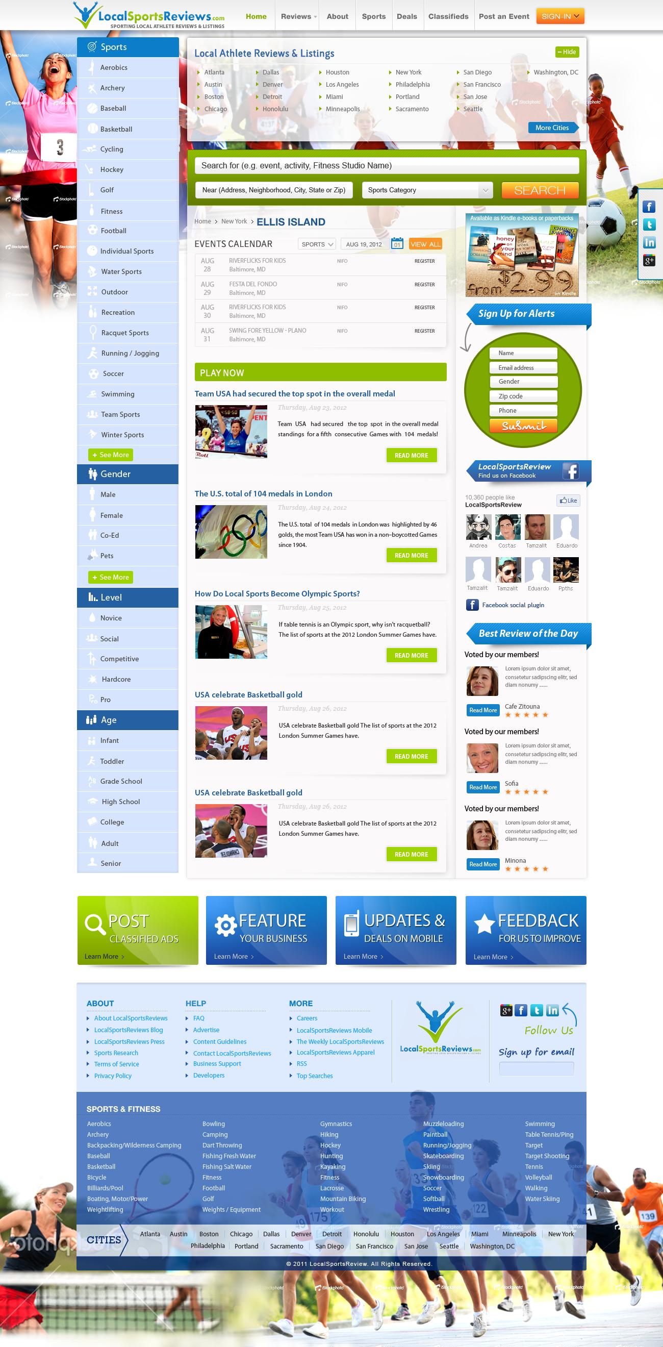 LocalSportsReviews.com (the yelp.com for sports) needs a new website design