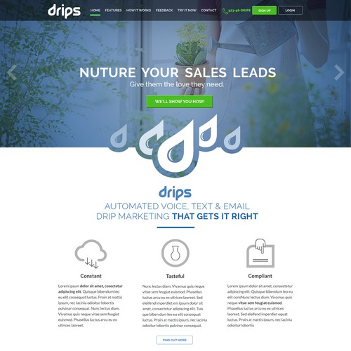 Drips.com home page design!