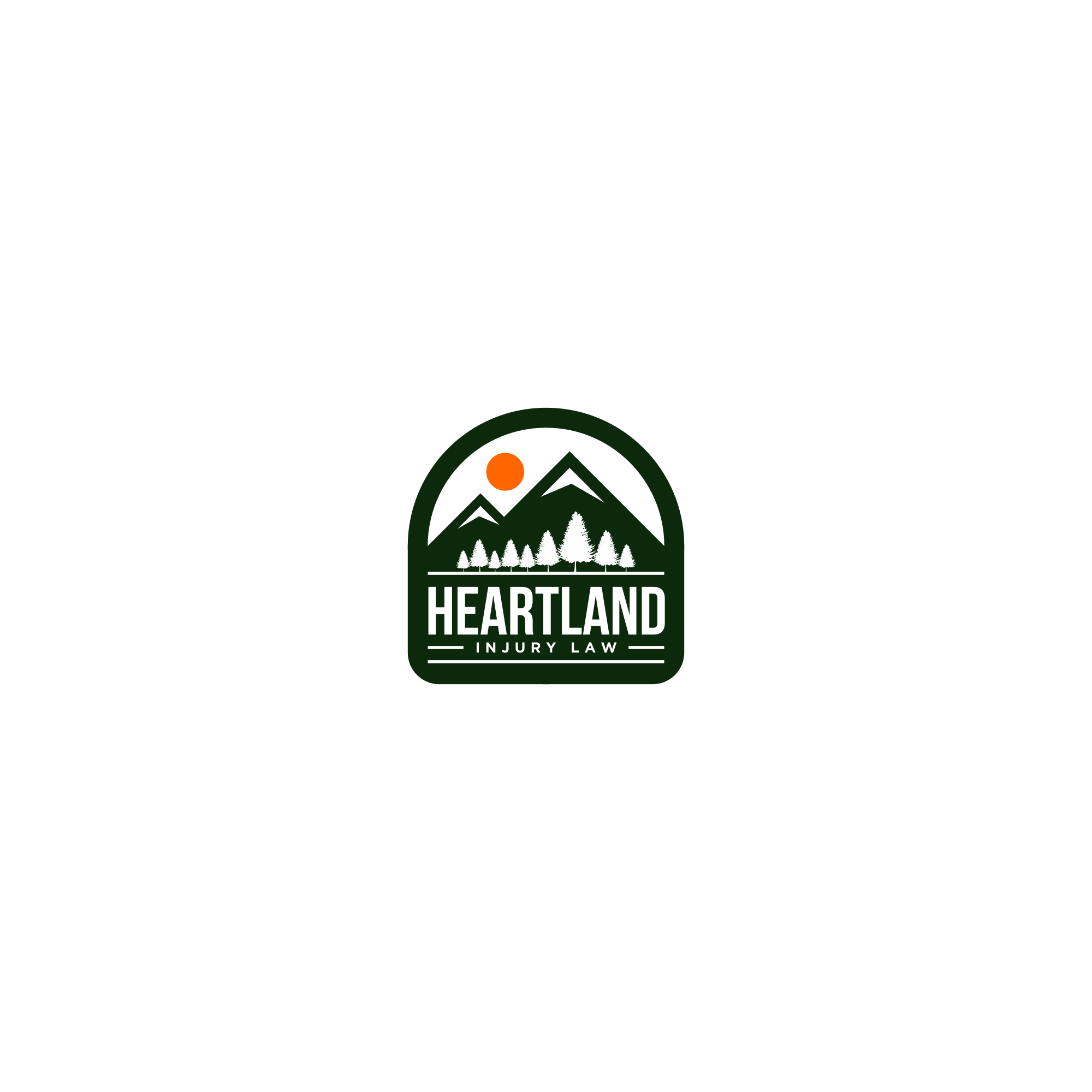 Heartland Injury Law - An Up North Cabin Type Logo For Attorney