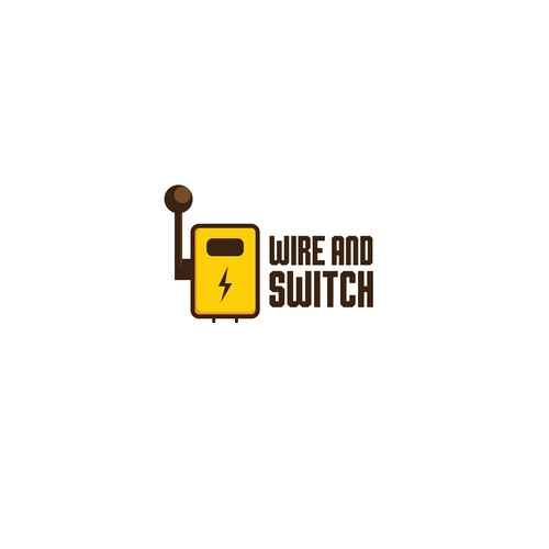 Conceptual logo design for wire and switch