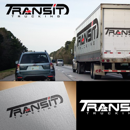 logo concept for truck transit company