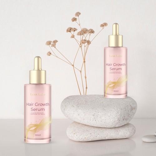 Hair growth serum product design