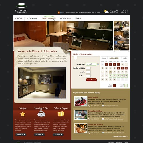 Maat - Homepage and Subpage Design