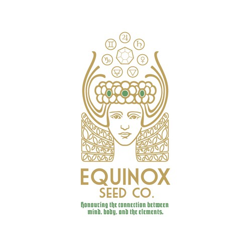 Vitchy logo concept for Equinox Seed Co.