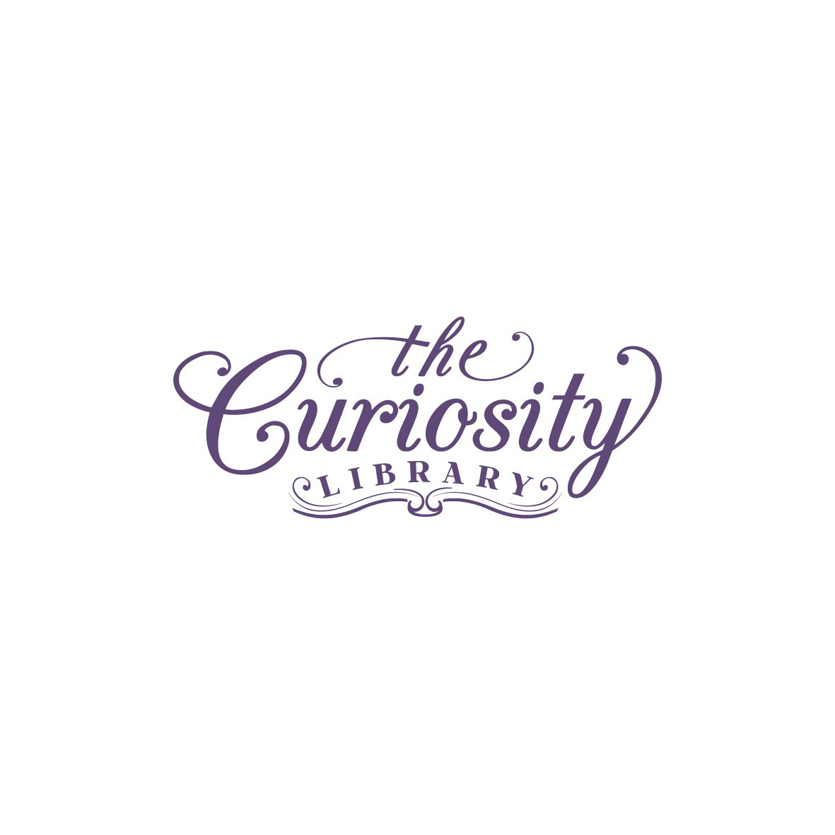 Create a possibility-filled logo for The Curiosity Library