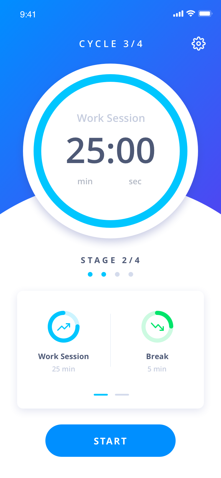 Design a beautiful Pomodoro app