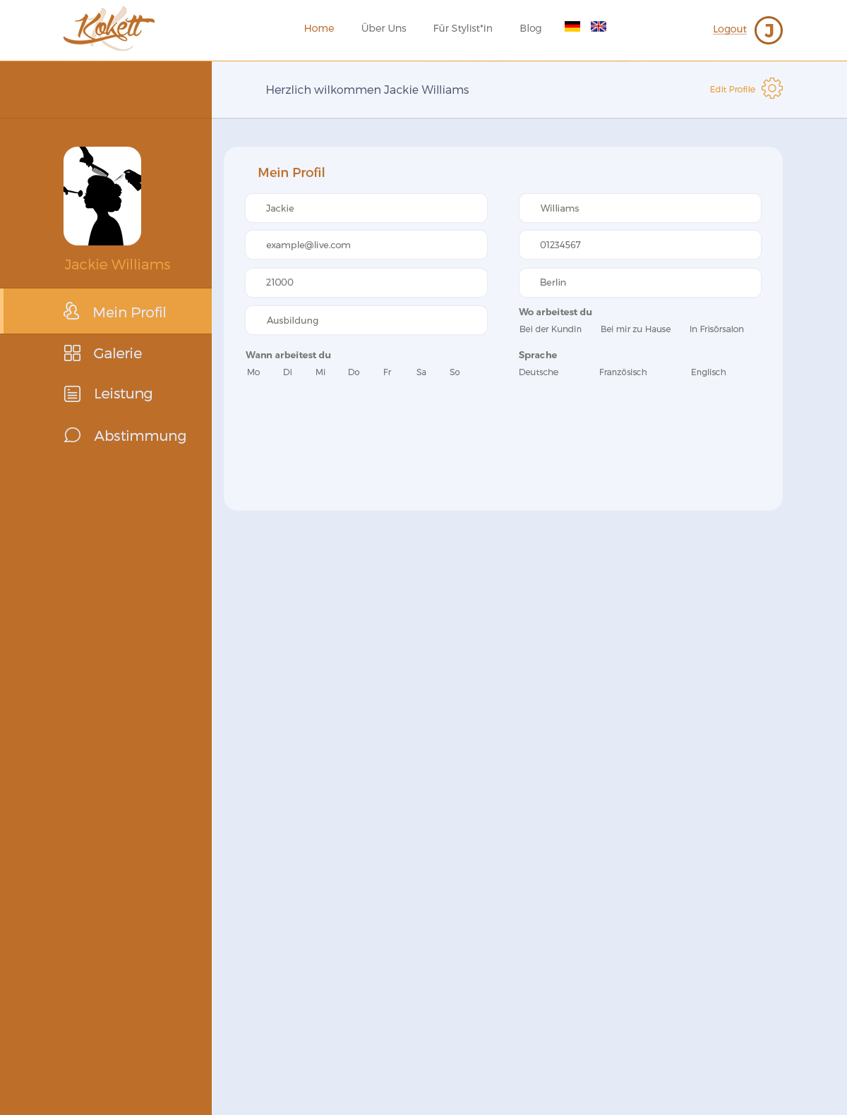 Anpassung und Erweiterung einer Webseite