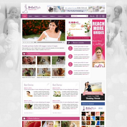 Help Bridal Style with a new website design
