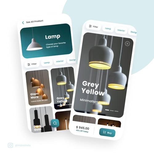 Lamp Store App Design