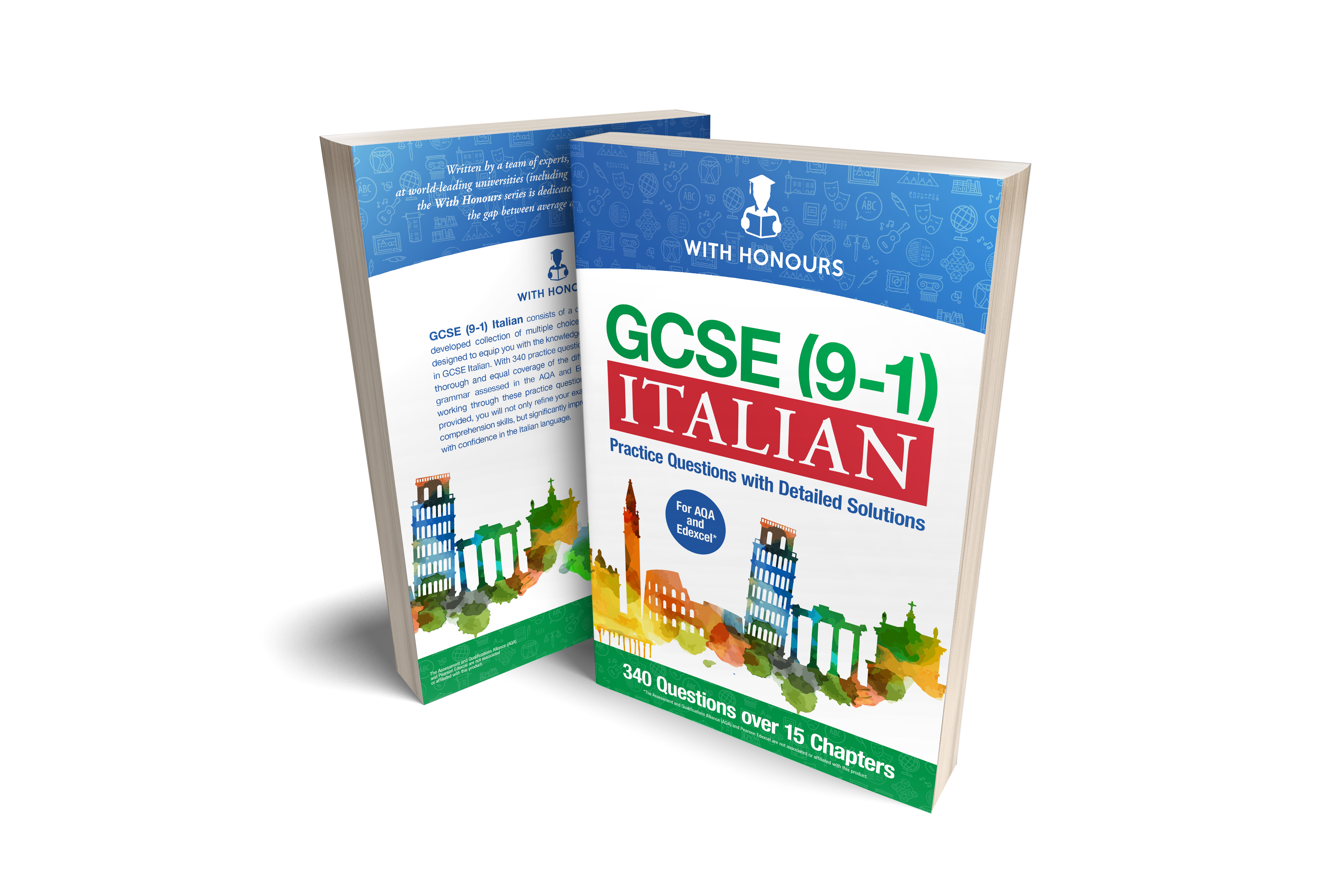 Book cover for 'GCSE (9-1) ITALIAN: Practice Questions with Detailed Solutions'