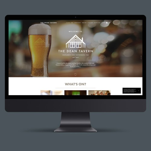 Website for The Dean Tavern Public House