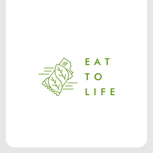 Concept logo for eat to life