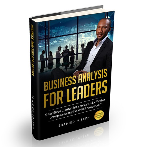 "Create a professional, unique book cover for my book, ""Business Analysis for Leaders"""