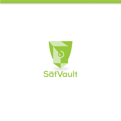 Logo concept for safe Vault