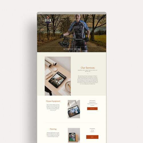 Dane Fitness Website & Marketing Design