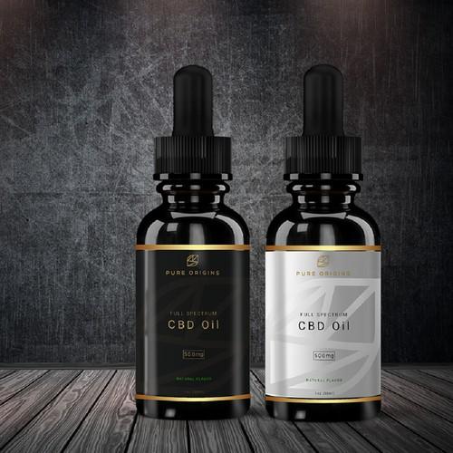 Label design for Pure Origins Hemp CBD Tincture