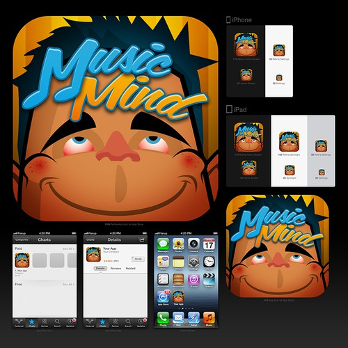 Create an Android/iPhone App Icon For MusicMind