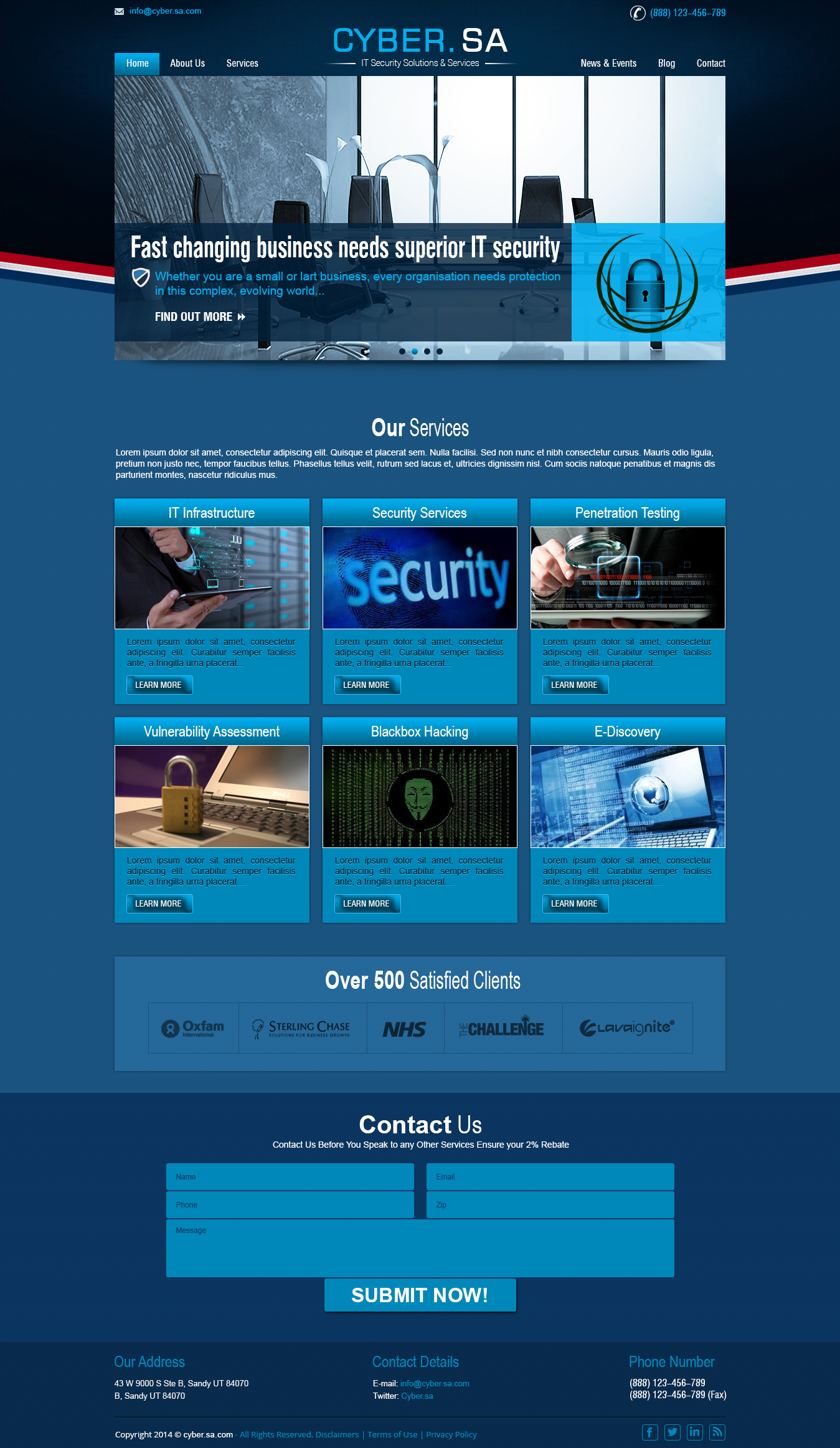 Professional IT information Security Website