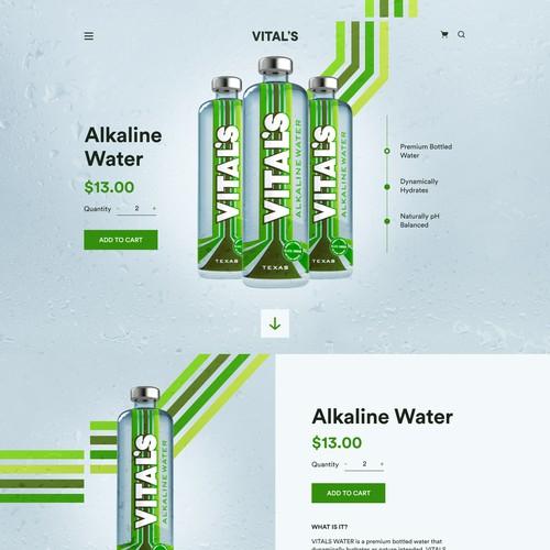 Alkaline Water Landingpage