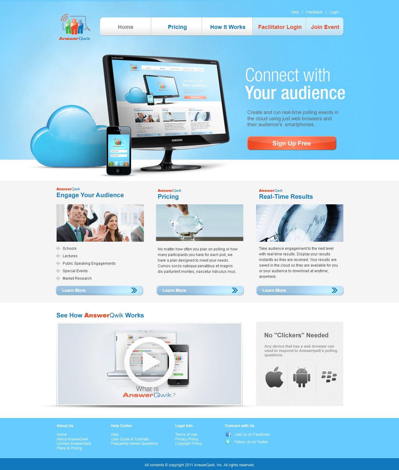 Help AnswerQwik.com convert browsers to buyers!  Web Design for Cloud Business