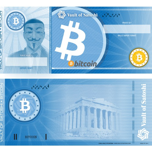Design a Dollar Bill for Bitcoin