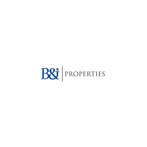 Typeface logo design for B&J Properties