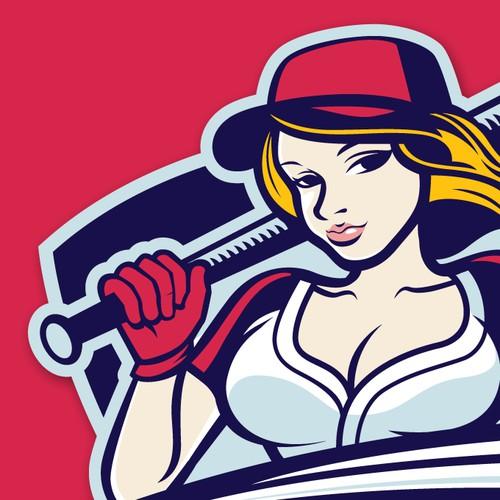 Fun and Sexy Softball Logo