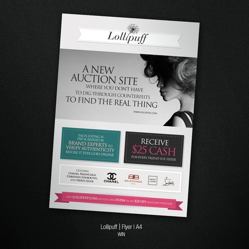 postcard or flyer for Lollipuff