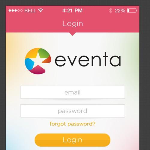 *Prize Guaranteed* App Design for Eventa Mobile App
