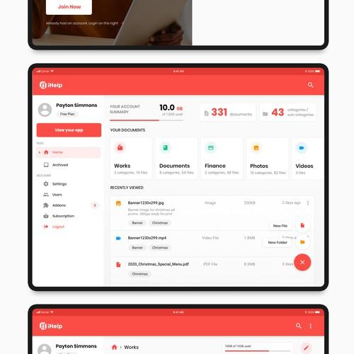 iHelp App Design
