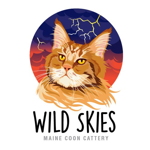 Illustrated mainecoon logo