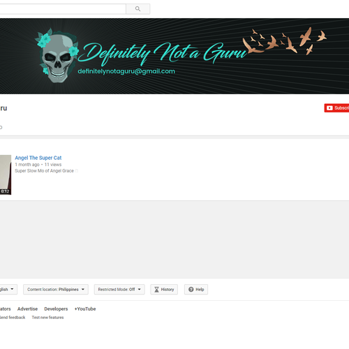 Edgy Graphic YouTube Art Design