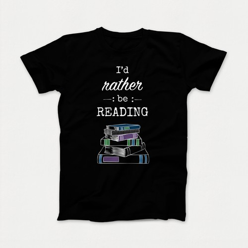 Book lovers t-shirt design