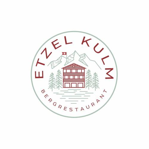Logo for a mountain restaurant