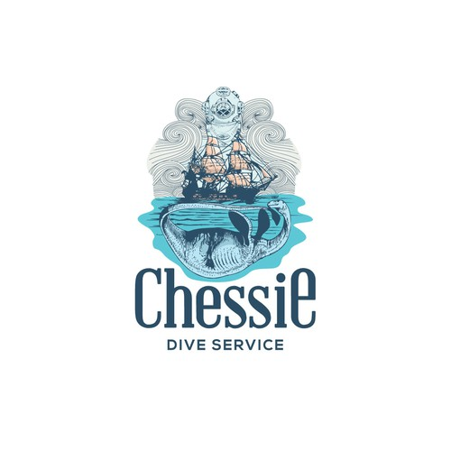 logo for chesseie dive service