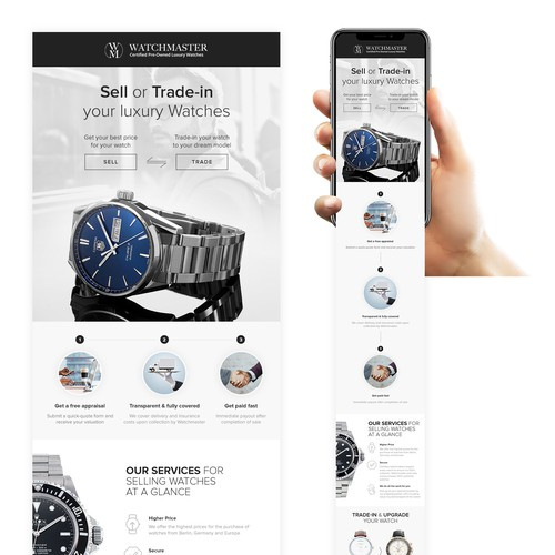 Email design for WatchMaster
