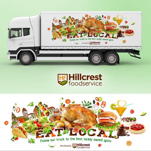 Truck Wrap Design for food distributor specializing in local restaurants